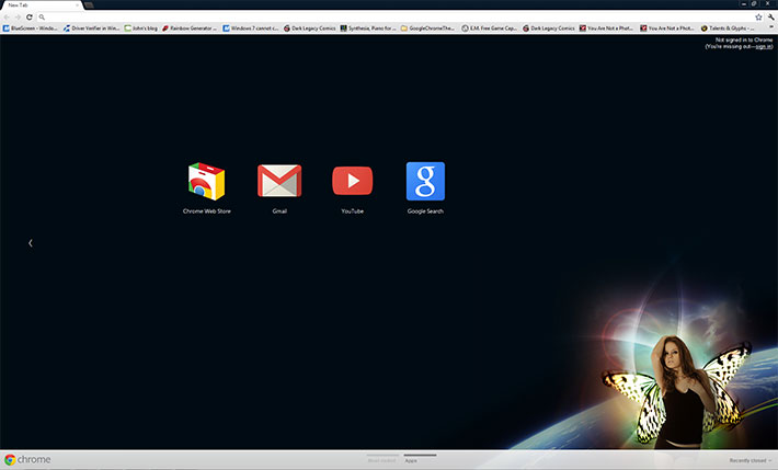 Somewhere out there - Google Chrome Themes