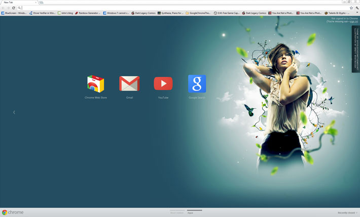 Serenity - Google Chrome Themes