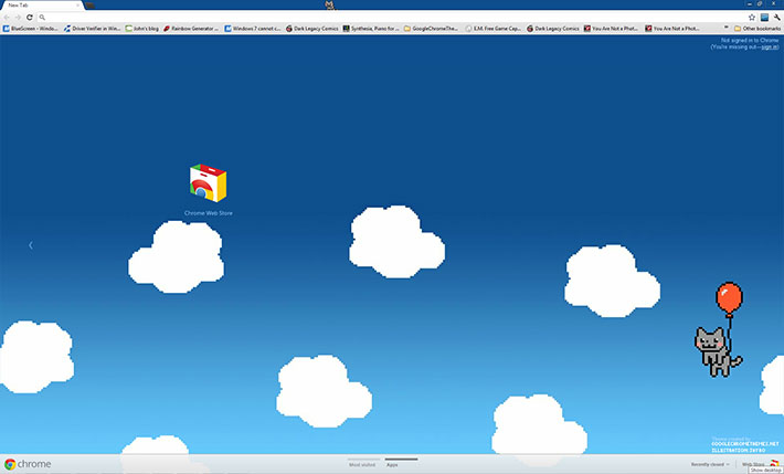 Red Balloon Nyan! - Google Chrome Themes